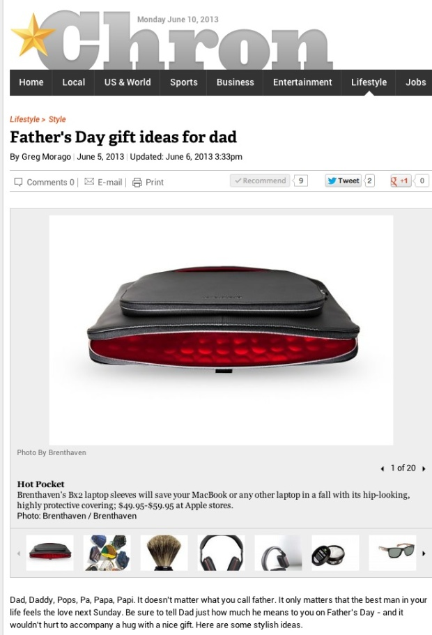 Father's Day Gift Ideas in the Houston Chronicle