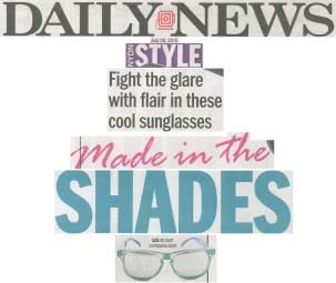 Daily News 7 26 15 Style - Fight the glare with flair in these cool sunglasses