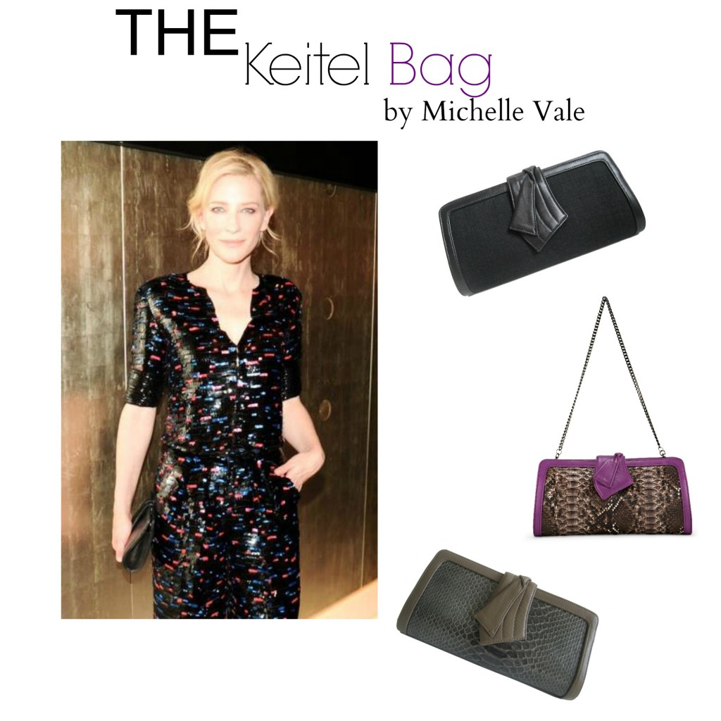Michelle Vale clutch on Cate Blanchett