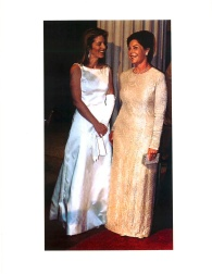 Caroline Kennedy and Mrs. Bush