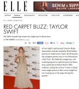 Reem Acra worn by Taylor Swift in Elle